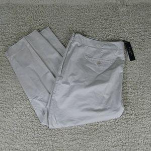 Talbots NWT Classic Side Zip Khaki Pants 18W